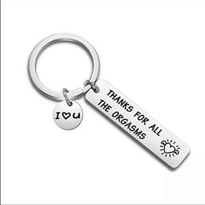 Thanks For All The Orgasms Custom Keychain